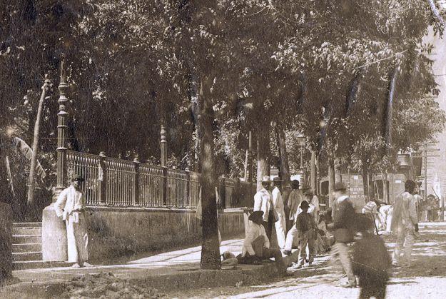 PLAZA BOLIVAR, PALACIO EPISCOPAL, CARACAS, CIRCA 1890