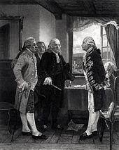 "JOHN ADAMS | ""Adams at left in Chappel's depiction of Staten Island Peace Conference."""