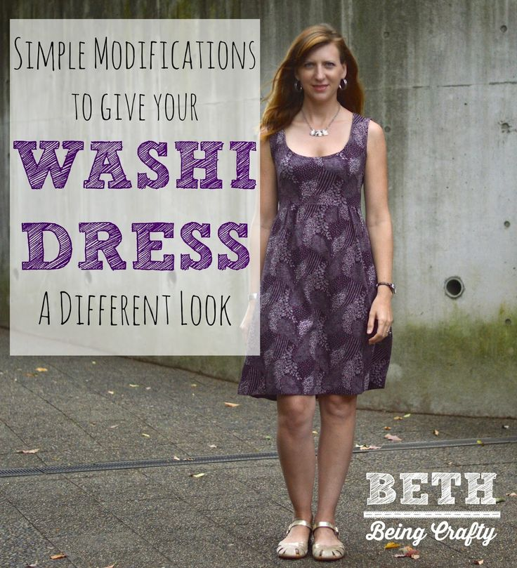 Beth Being Crafty: Sleeveless Washi Dress with simple mods--how to lengthen the bodice and adapt the neckline