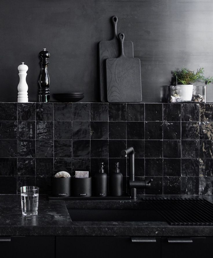 Kitchen of the Week: A Study in Black by Designer …