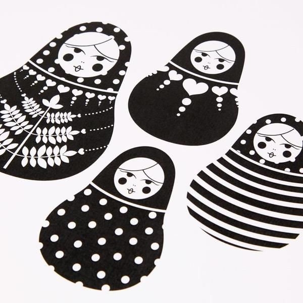 Babushka Doll Illustrations by Bron Alexander, via Behance  DIY craft images for sewing nesting dolls idea and pattern design
