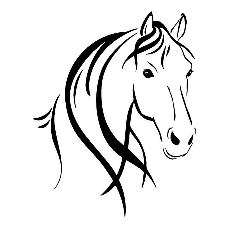 clipart of horse outline | Horse Head Outline | Horses Stickers | Car Decals | Wall Decal