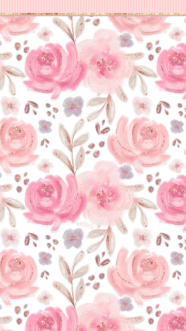 Phone Wallpapers HD Pink Gold Roses - by BonTon TV - Free ...