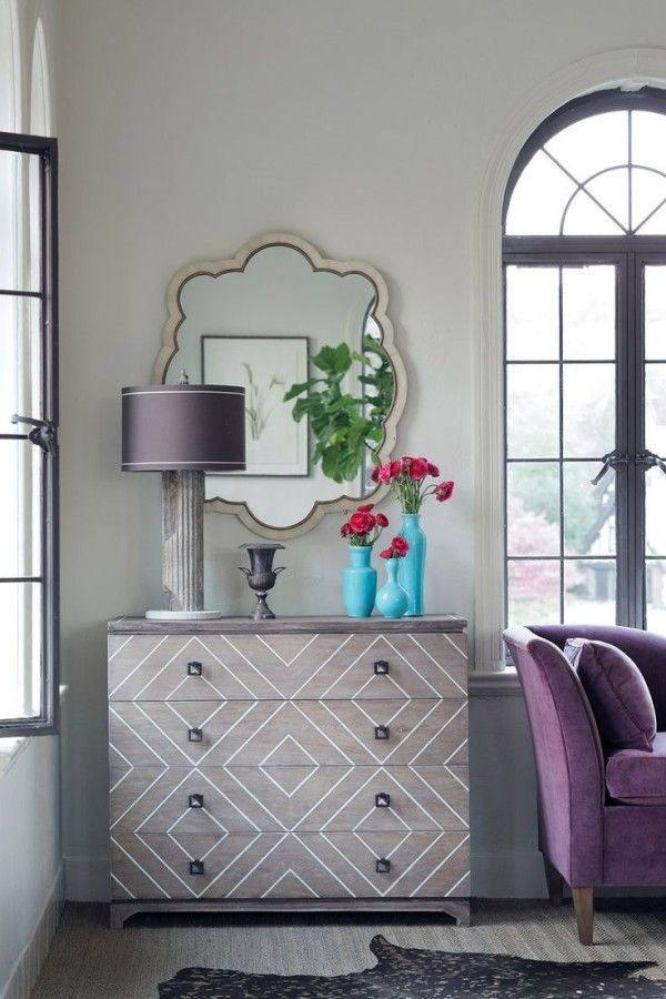 Love the geometric details on this dresser!