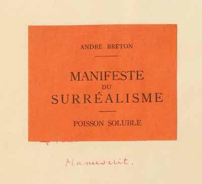 breton surrealist manifesto