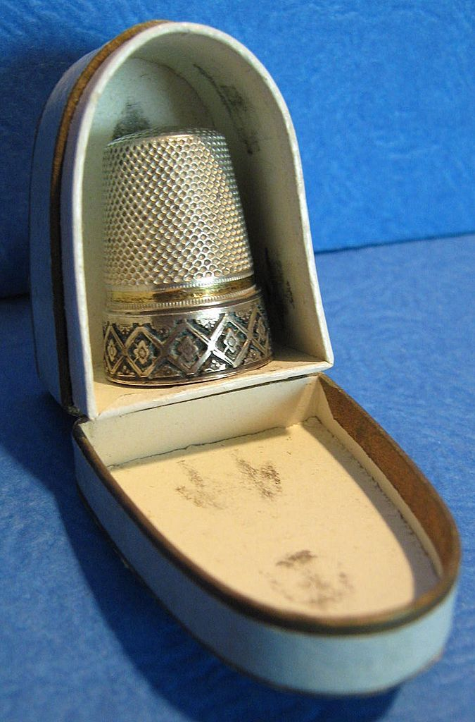 Antique French Sterling Thimble w/Box; Circa 1880