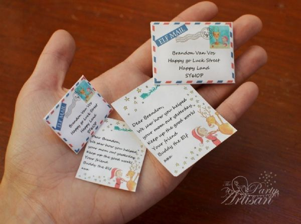 Printable AND Editable Elf letters!! - The elves can leave a different note everyday! - The Party Artisan
