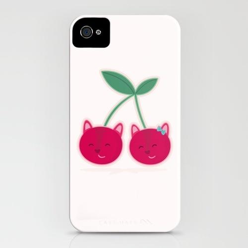 Cherry kitties iPhone Case