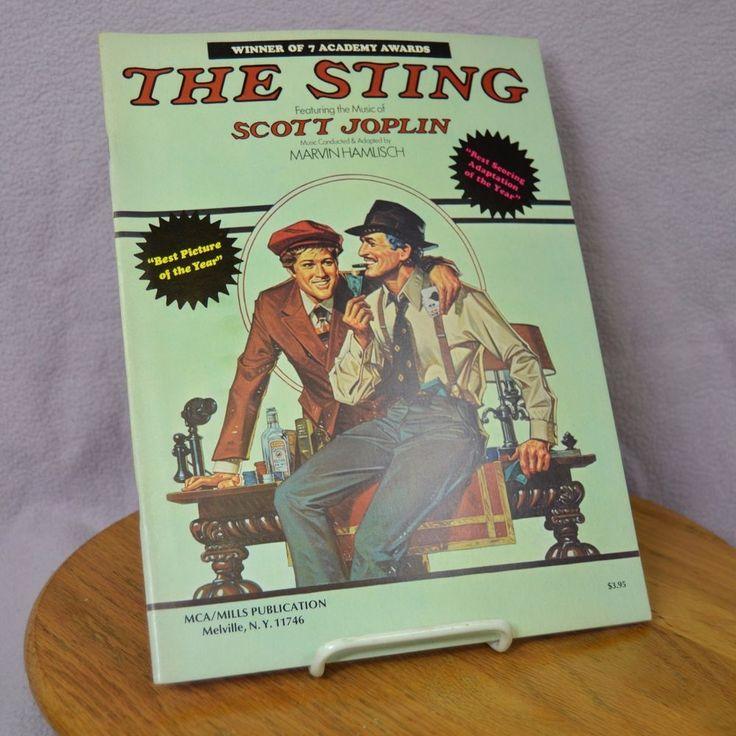 The Sting Movie Piano Solo Scott Joplin Sheet Music MCA/Mills Publication Book