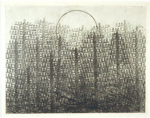Max Ernst: Forest and Sun, 1931, graphite frottage on paper
