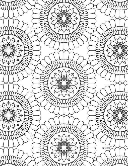 Items Similar To Mandala Adult Coloring Page From Zen Out Vol 1 Kids Book Doodling Doodle For Adults On Etsy