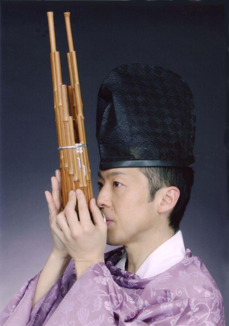 """笙 sho Instrumento japones del """"gagaku"""" THE SOUND THAT THIS INSTRUMENT MAKES IS SUPPOSED TO REPRESENT LIGHT SHINNING FROM HEAVEN OF THE SKY."""
