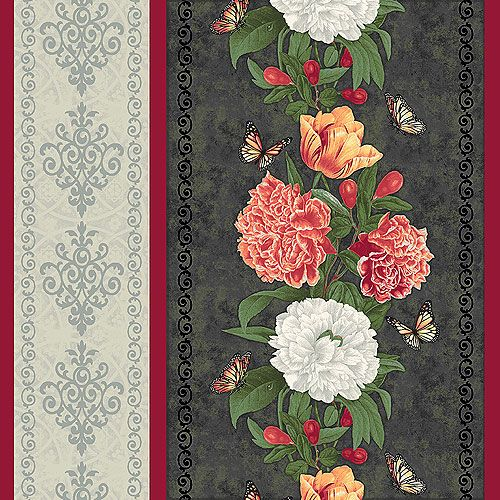 Flower Show - Spring Peony Stripe - Quilt Fabrics from www.eQuilter.com