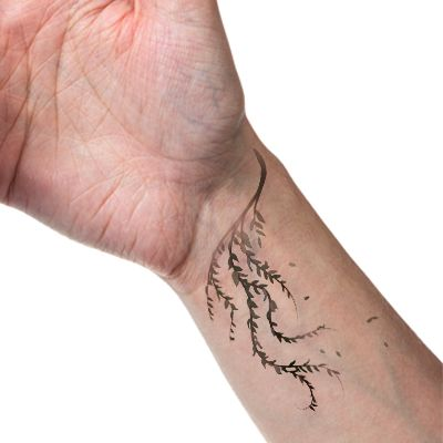 Weeping Willow Tattoo on the Wrist