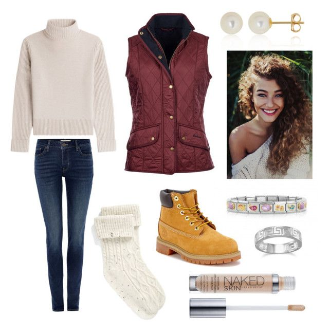 """""""Michelle Oakes Starter Pack"""" by oakesie on Polyvore featuring Levi's, Vanessa Seward, UGG, Timberland, Barbour, Belk & Co., BillyTheTree and Urban Decay"""