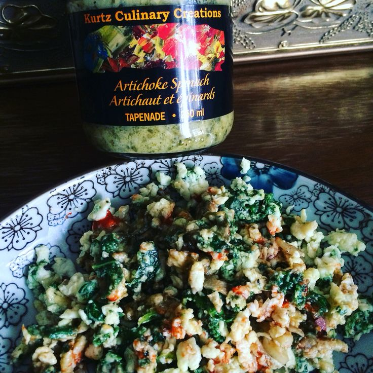 Use the left over egg whites to make scrambled eggs with some Kurtz Culinary Creations Artichoke Spinach Tapenade + Kale + Spinach + Green Onion + Garlic