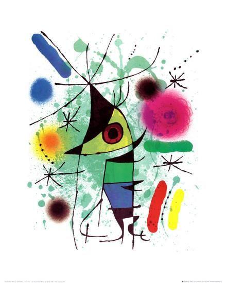 The Singing Fish Art Print by Joan Miró at Art.com