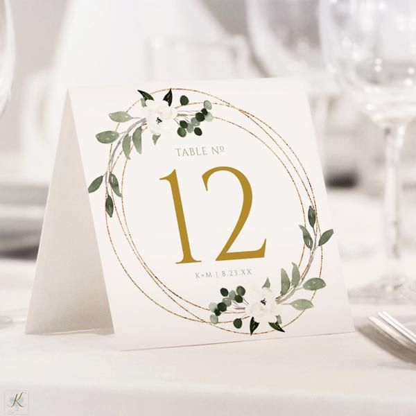Table Number Template Geometric Greenery Tent Edit Online In Templett Wedding Table Numbers Template Wedding Table Numbers Creative Wedding Table Numbers