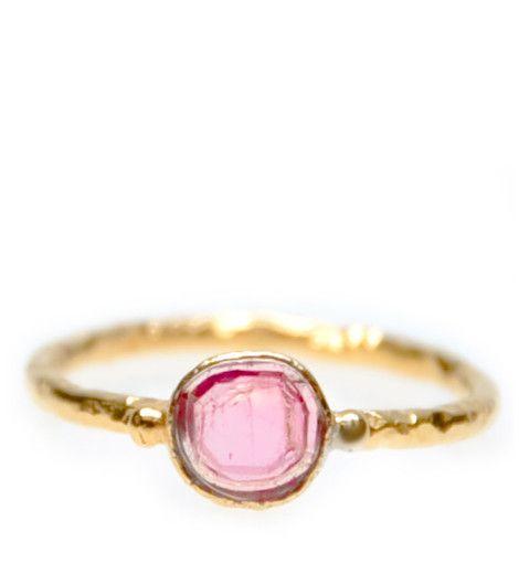 Watermelon Tourmaline Ring