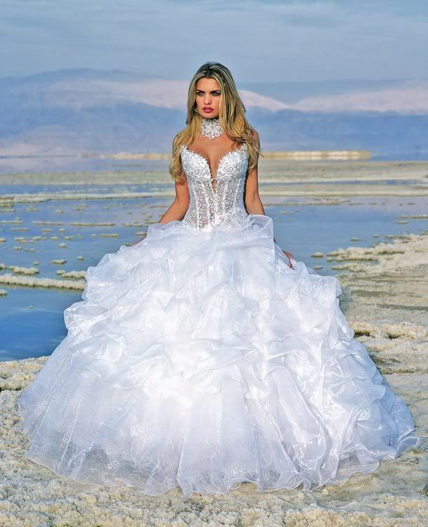 New White Wedding Dress Bridal Gown Stock Size 6 8 10 12 14 16