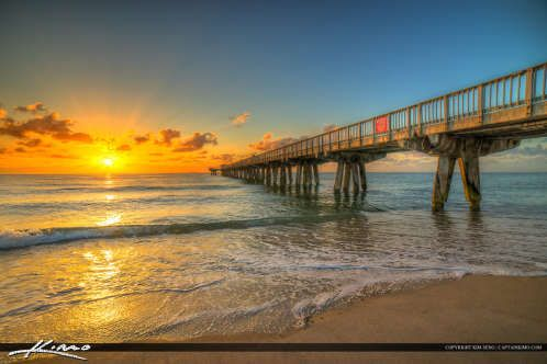 Pompano Beach Pier Broward County Florida at the Beach