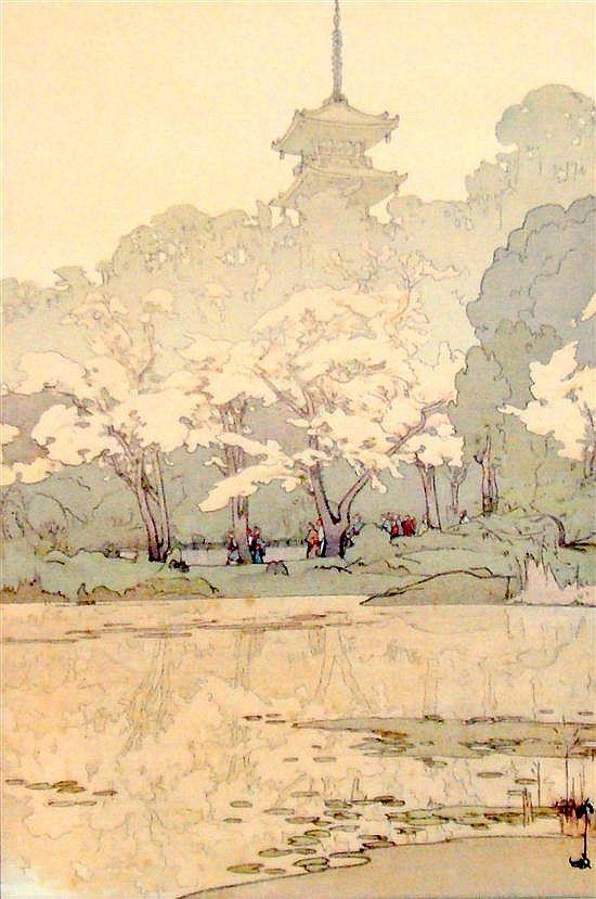 Hiroshi Yoshida (1876-1950) San Kei En Woodblock