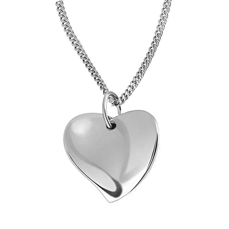 Colier si pandantiv Goldmaid inimă de argint