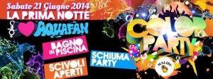 Gli Schiuma Party del 2014 @ Aquafan con Gabry Ponte http://www.nottiromagnole.it/?p=13377