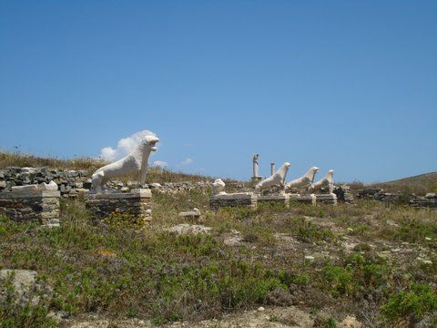Avenue of Lions in Delos