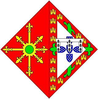 Heráldica Real Portuguesa: Maio 2008 - Beatriz (clèves) - Lisonja de Armas de D. Beatriz (?-?) Senhora de Clèves e de La Mark Filha de D. Pedro, Duque de Coimbra, como os seus irmãos foi acolhida na Borgonha e casou com Adolfo de Clèves e de La Mark, Senhor de Ravenstein (1425-1492), filho do Duque de Clèves. Partida: primeiro, de vermelho carregado com um carbúnculo de ouro; segundo, Armas do Infante D. Pedro (Portugal/Aviz) com diferença própria (lambel de prata com três mosquetas de…