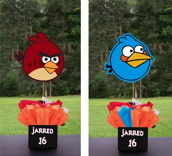 Angry Birds Birthday Party Centerpieces. playpatterns.net