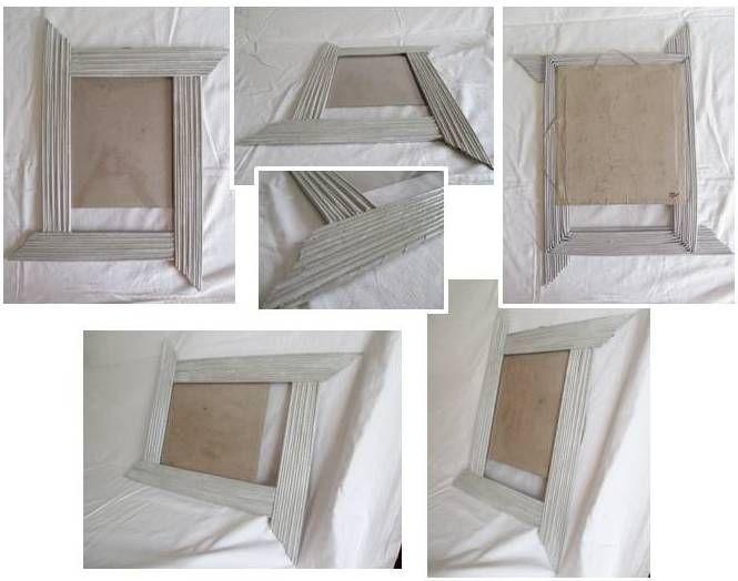 Cornice canne di carta colore grigio con sfumature for Cornici bianche
