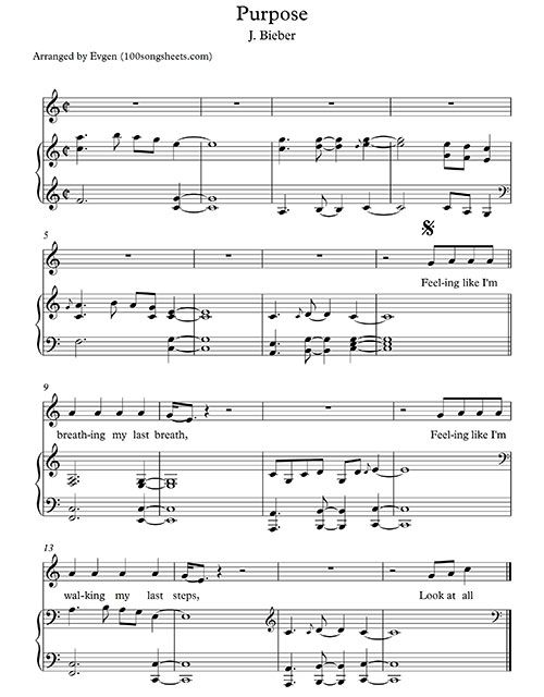 purpose justin bieber free sheet music music pinterest free sheet music and sheet music. Black Bedroom Furniture Sets. Home Design Ideas