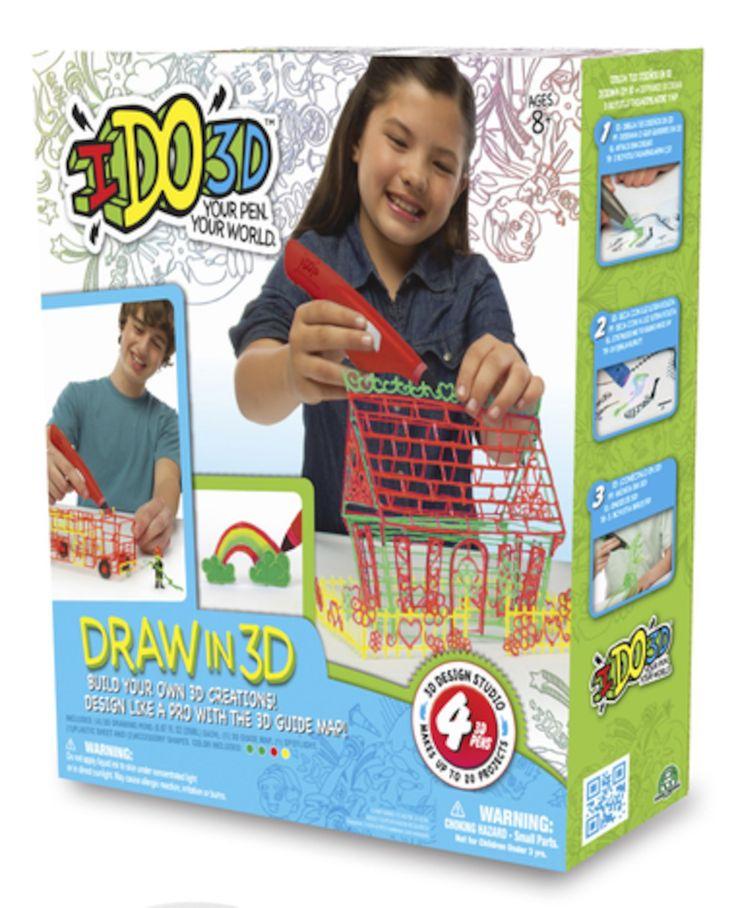 Neljä maagista 3D-kynää, joiden avulla pääset luomaan omaa 3D-taidetta. Ihana, taianomainen ja luova lelu piirtämisestä ja rakentamisesta kiinnostuneelle lapselle. Tulevaisuus on täällä!<br><br>IDO3D-kynillä piirrät muovialustalle. Voit piirtää vapaasti mitä vain tai piirtää mallien mukaan. Kuivaa sitten piirrustuksesi mukana tulevan taskulampun avulla. Kun piirrustuksen eri osat ovat kuivuneet, voit koota osista huikean 3D-pienoismallin!<br><br>Pakkaus sisältää:<b...