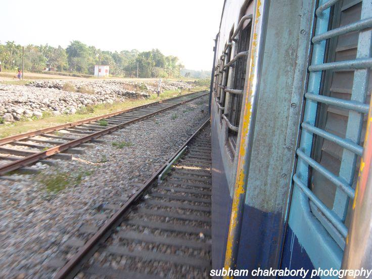 Changing tracks!!!On board Sealdah-New Coochbehar Uttar Banga Express.