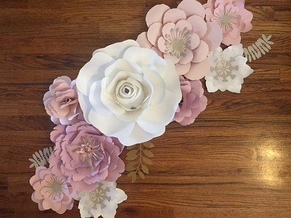 Paper Flowers Paper Flower Wall Decor Wall Decor Nursery Paper