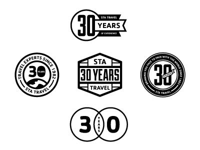 Dribbble - STA Travel 30th Anniversary Logo Creative by Tyler Anthony