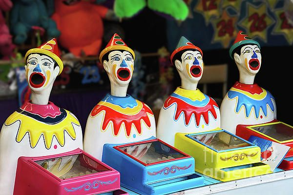 I just love playing the clowns at a fair. They are so #colorful. #Photograph captured at a local school #fair. #Play_Me #Carnival #Clowns by #Kaye_Menner #Photography Quality Prints Cards Products at: https://kaye-menner.pixels.com/featured/play-me-carnival-clowns-by-kaye-menner-kaye-menner.html