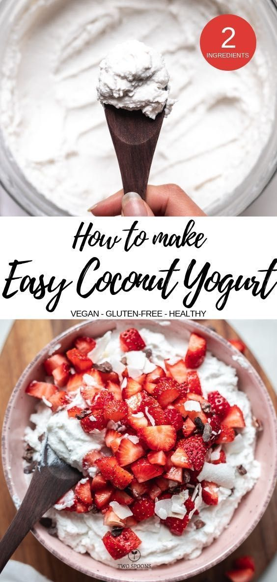 HOW TO MAKE COCONUT YOGURT. 2-ingredients, vegan and dairy-free, no-soy #coconut…