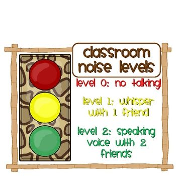 This is a great idea because the students get a visual. If they are too loud ask them to move their level to a 1 or 2. It could easily be made.