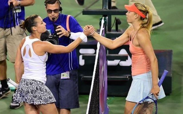 Tennis - Indian Wells - La storia americana di Flavia Pennetta continua, battuta in rimonta negli ottavi la Sharapova #pennetta #sharapova #indianwells #wta