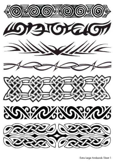 Celtic And Tribal Armband Tattoos Designs