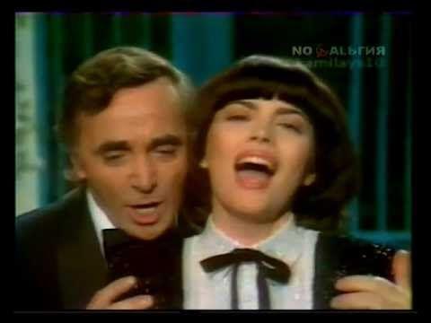 Mireille Mathieu  Charles Aznavour   Une vie d'amour