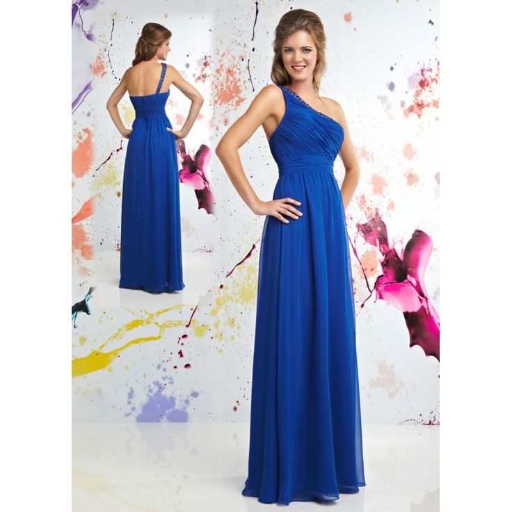 cute teenage outfits | Cheap Cute One Shoulder Blue Teen Party Dresses for Juniors hiprva31