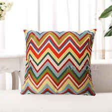 Geometric Wave Stripe Linen Cotton Cushion Cover Throw Pillow Cases Home Decor[Pattern A]