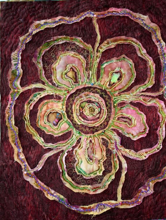 Stitch and Slash to create a textile surface. - An online class $14.99.