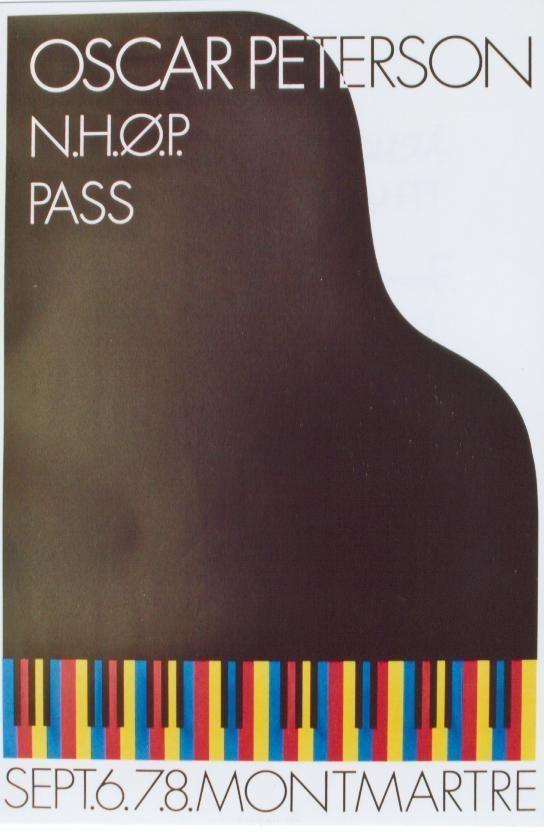 Original Vintage Poster Jazz Piano Oscar Peterson 1974