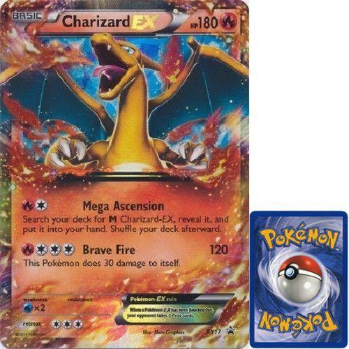 Pokemon Charizard EX JUMBO OVERSIZED Promo Card From Collection Box