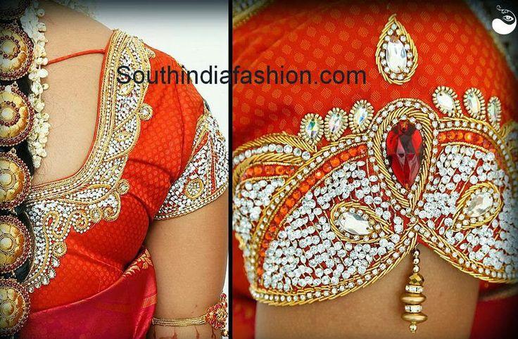 Bridal saree blouse