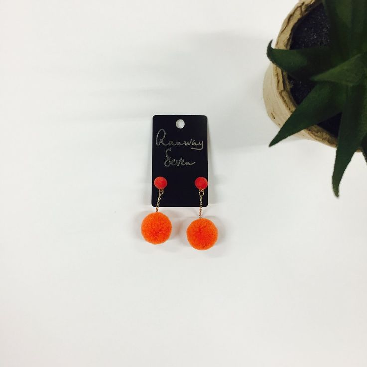 Party Starter Earrings-Orange